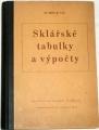 Volf Miloš B. - Sklářské tabulky a výpočty