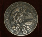 medaile - Doly V. I. Lenina k.p. Komořany  20. výročí