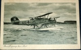 Wasserflugzeuge beim start - německý dvouplošník