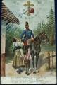 Vojenská - voják na koni, loučení 1915