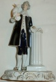 soška Muž s papouškem rokoko - Royal Dux