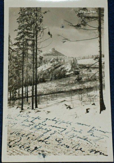Ještěd - Jeschken 1933 zimní motiv