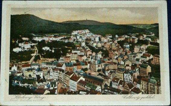 Karlovy Vary - celkový pohled 1929