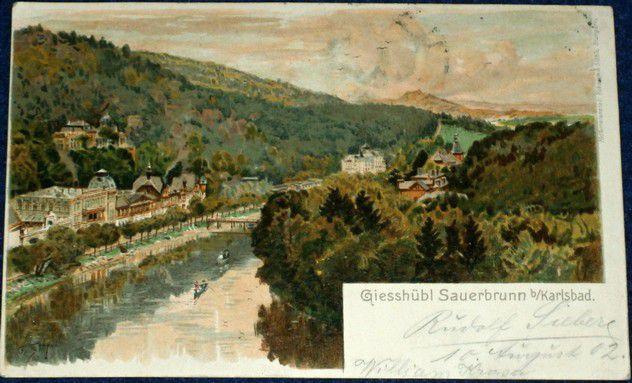 Karlovy Vary - Giesshübl Sauerbrunn 1902