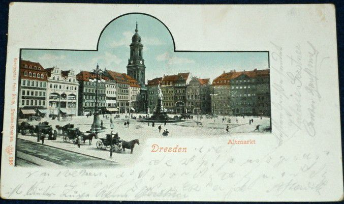 Německo - Dresden Altmarkt 1905