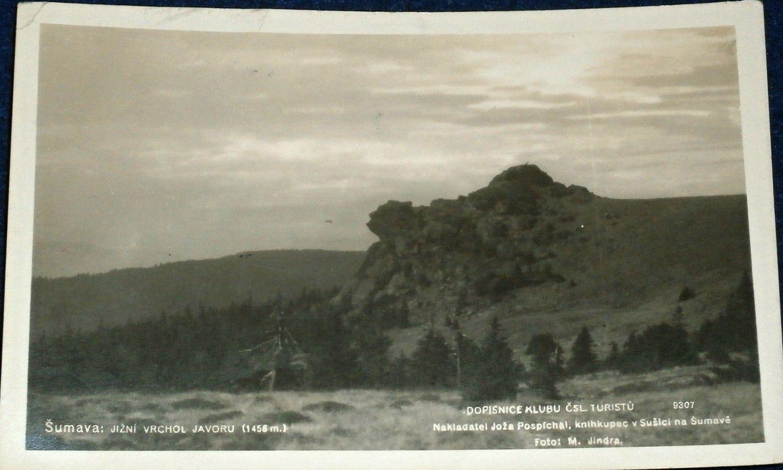 Šumava - Jižní vrchol Javoru 1930