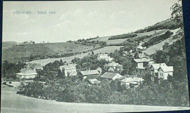 Všenory - Střední část kolem r. 1910