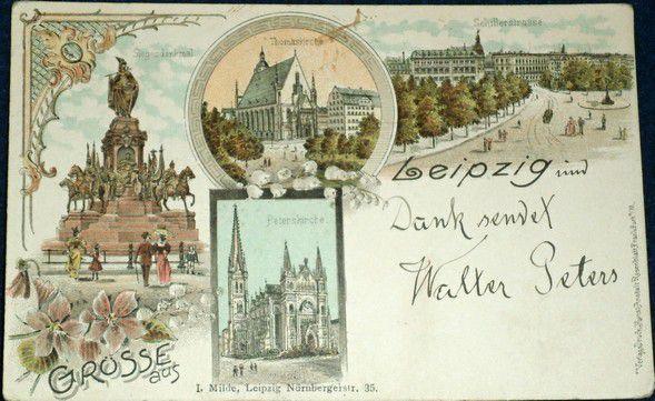 Německo - Lipsko - Leipzig litografie 1899