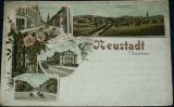 Německo - Neustadt in Sachsen 1899 litografie