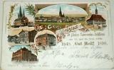 Německo - Neustadt 1898 litografie