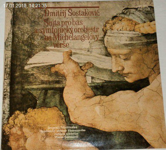LP Dmitrij Šostakovič - Suita pro bas a symfonický orchestr na Michelangelovy verše