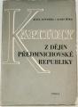 Jandera A., Míka A. - Kapitoly z dějin předmnichovské republiky