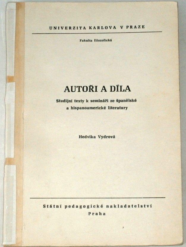 Vydrová Hedvika - Autoři a díla