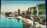 Praha - Palackého nábřeží s přístavem parníků 1916