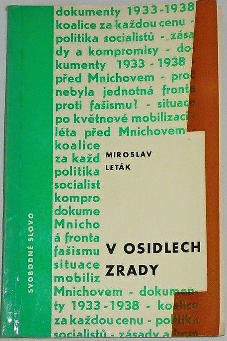 Leták Miroslav - V osidlech zrady