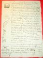 Starý francouzský dokument r. 1815