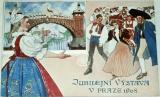 Jubilejní výstava v Praze 1908 - návrh plakátu