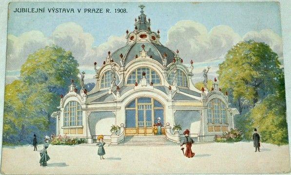 Jubilejní výstava v Praze 1908 - pavilon zlatnictví