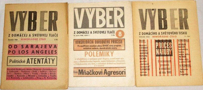Výber z domácího a světového tisku - ročník I. 1968