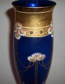 Secesní váza - kobaltové sklo, počátek min. století