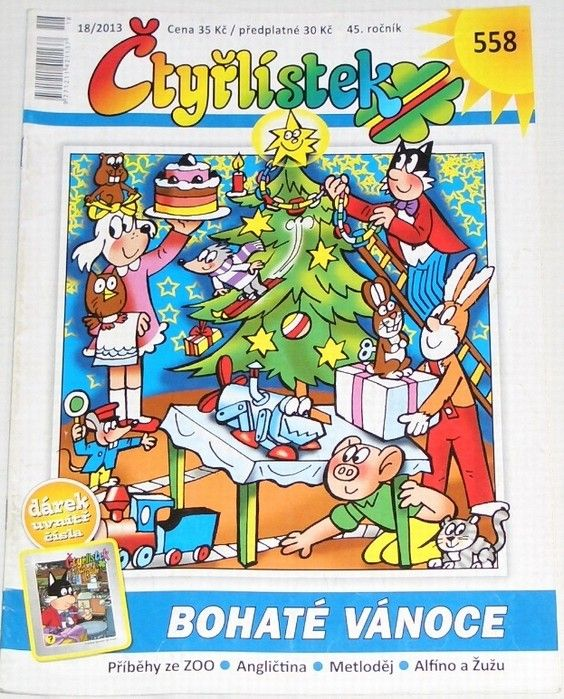 Čtyřlístek č. 558 18/2013 - Bohaté vánoce