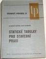 Novák Otakar, Hořejší Jiří - Statické tabulky pro stavební praxi