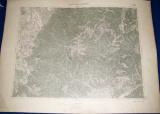 vojenská mapa Staré Hory a Mošovce 1930