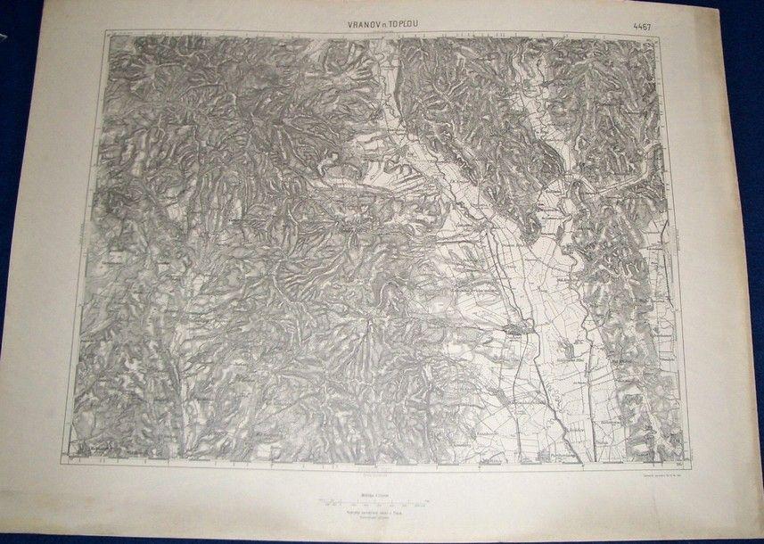 vojenská mapa Vranov nad Toplou 1932 (Vojenský zeměpisný ústav)