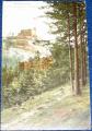 Polsko - Krkonoše (Riesengebirge), hrad Chojník (Kynast) 1910