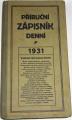 Příruční zápisník denní 1931