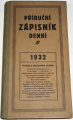 Příruční zápisník denní 1932