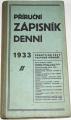 Příruční zápisník denní 1933