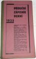 Příruční zápisník denní 1935