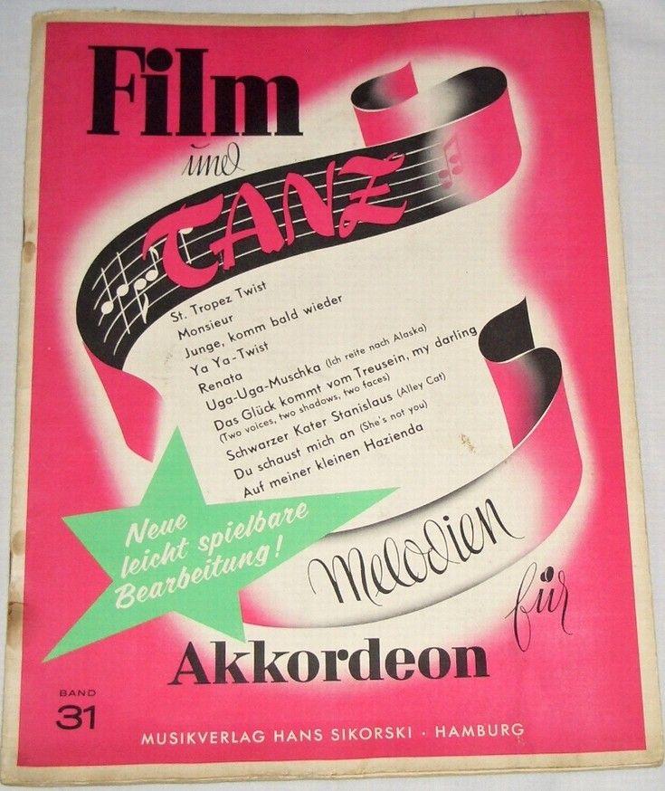 Film und Tanz Melodien für Akkordeon