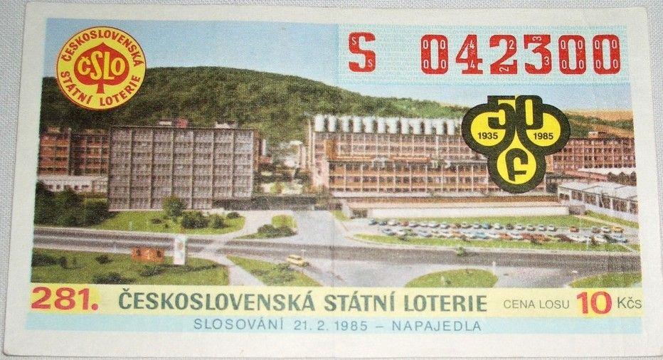Los 281. Československá státní loterie 1985
