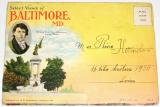 Baltimore, USA, 1930 - rozkládací pohlednice