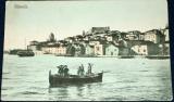Chorvatsko - Šibenik, člun s rybáři, 1910