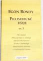 Bondy Egon - Filosofické eseje sv. 3