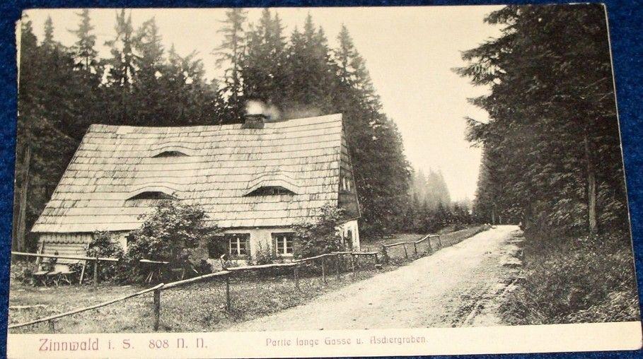 Cínovec (Zinnwald) - Partie lange Gasse - stavení