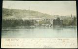 Praha - pohled na Sovovy mlýny a Petřín 1903