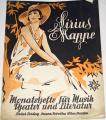 Sirius Mappe: Monatshefte für Musik, Theater und Literatur,  Heft 2, IV. Jahrgang