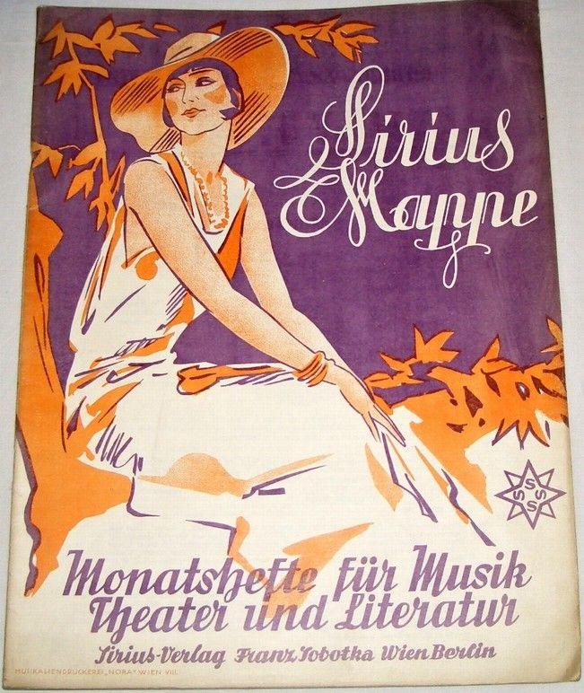 Sirius Mappe: Monatshefte für Musik, Theater und Literatur, Heft 5, IV. Jahrgang