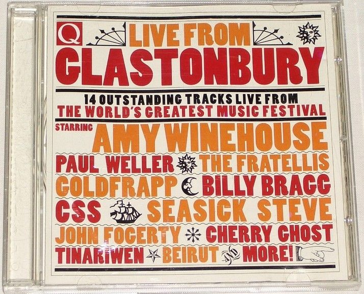 CD Live from Glastonbury (Amy Winehouse, Paul Weller, Goldfrapp...)
