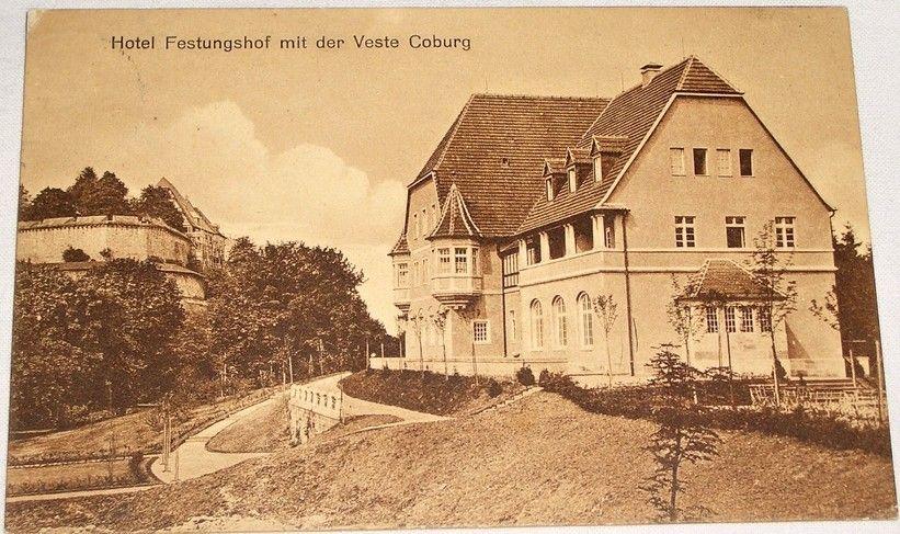 Německo: Coburg hotel Festungshof 1912
