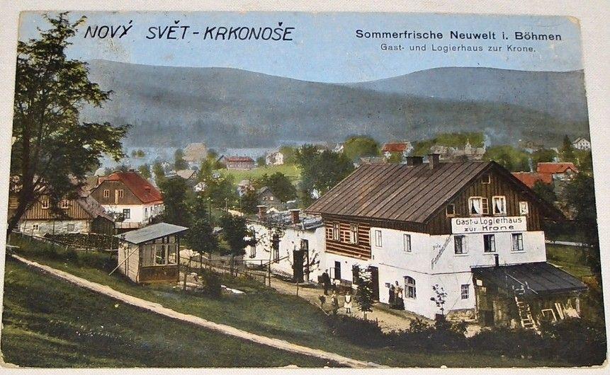 Nový svět, Harachov: Gast und Logierhaus zur Krone cca 1910
