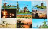 Holandsko:  větrné mlýny