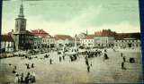 Slaný náměstí (trhy) 1909