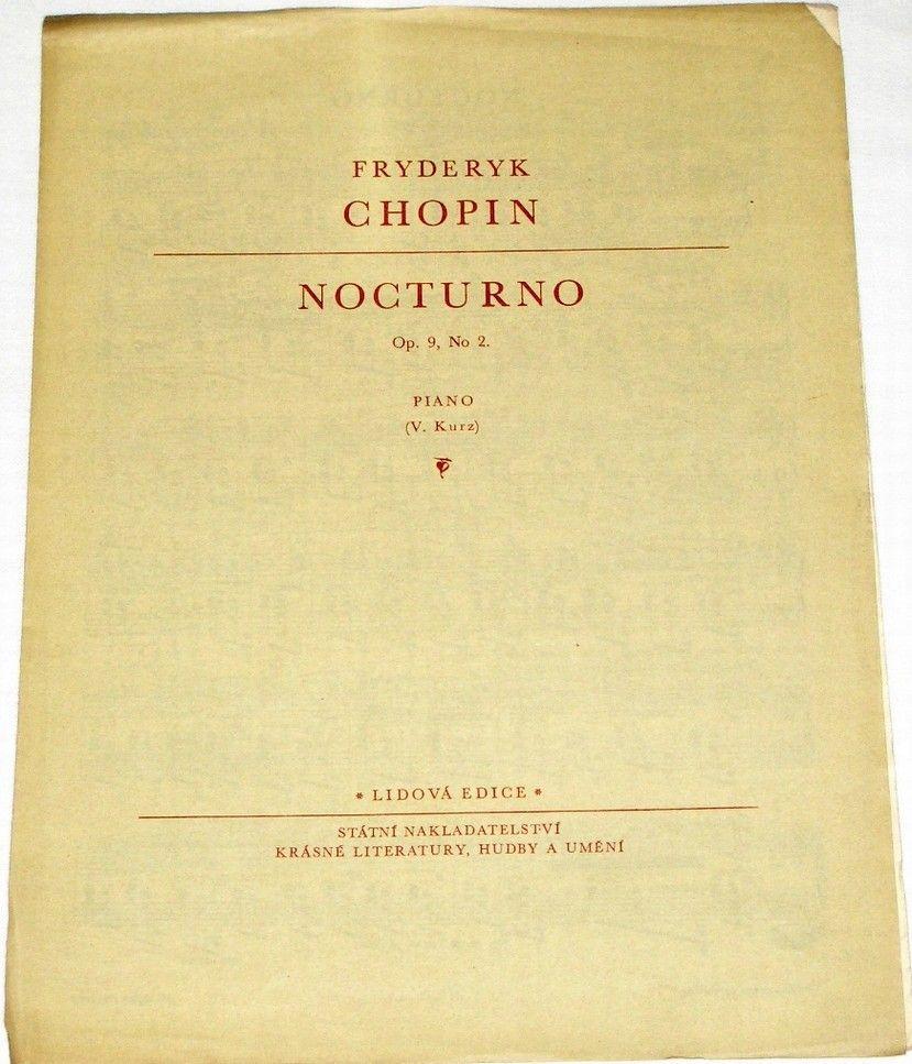 Chopin Fryderyk - Nocturno (op. 9/2, Piano)
