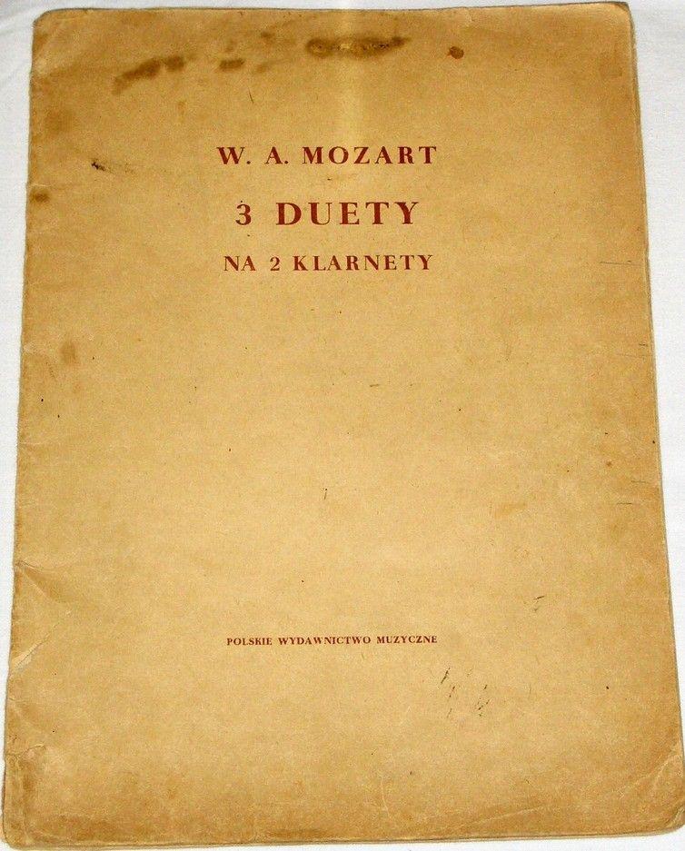 Mozart Wolfgang Amadeus- 3 duety na 2 klarnety