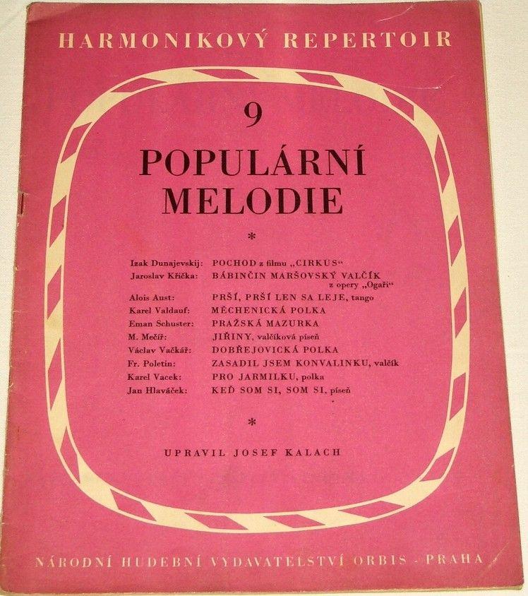 Populární melodie - Harmonikový repertoir 9